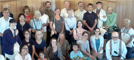 Friends gathered on World Quaker Day, 04Oct2014